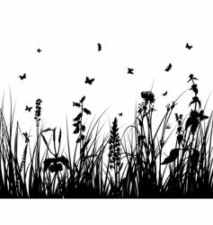 grass silhouette vector image vector image