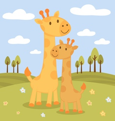 Happy giraffes vector