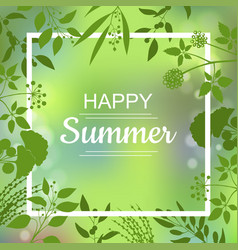 Happy summer green card vector