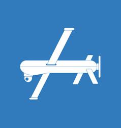 Icon military drone vector