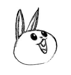 Kawaii funny rabbit animal cartoon image vector