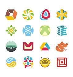 Logotype set vector image vector image