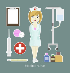 Medical doctor nurse girl vector