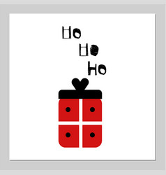 Merry christmas present gift red box isolated on vector