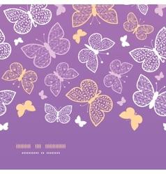 Night butterflies horizontal seamless pattern vector image