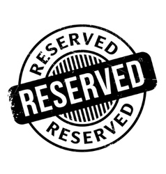 Reserved rubber stamp vector