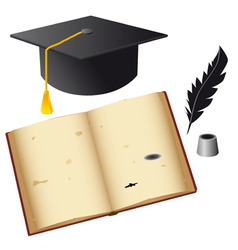 set of isolated objects for the student vector image vector image
