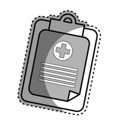 Silhouette hospital prescription pad icon vector