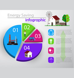 smart energy use infographic concept vector image vector image