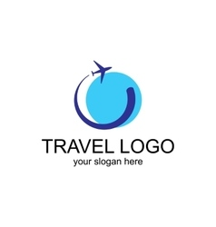 Travel Logo Template vector image