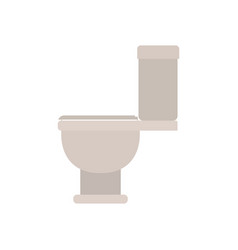 White background with color silhouette of toilet vector
