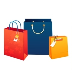 Sale poster of paper shopping bags vector