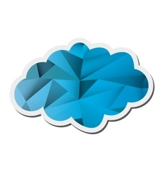 Abstract single cloud shape icon vector