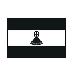 Lesotho flag monochrome on white background vector