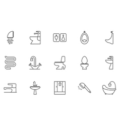 Sanitary ingeniring editable icons vector
