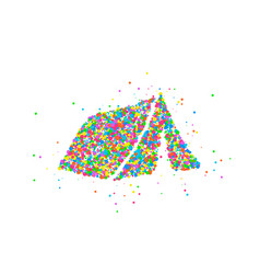 Abstract tourist tent vector