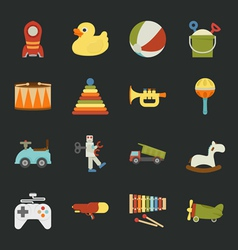 Toy icons flat design vector