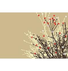 hand draw flower branch design vector image