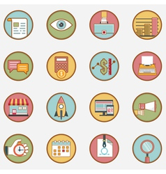 Set of retro business icons - part 1 vector