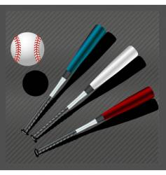 Baseball bats and ball vector