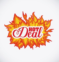 Hot deal design vector