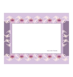 Rectangular floral frame vector
