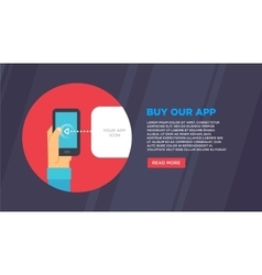 Flat design concepts for mobile email vector