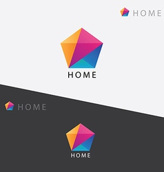Abstract multicolored geometric polygon logo vector