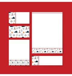 Brand letterhead template vector