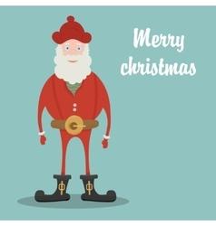 Santa Claus Merry Christmas card vector image