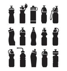 Water bottles set vector