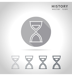 History outline icon vector