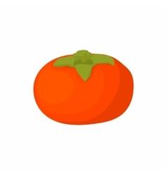 Ripe persimmon icon cartoon style vector image