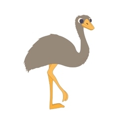Ostrich icon cartoon style vector