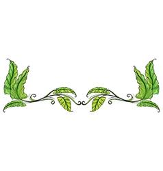 A leafy border vector image vector image