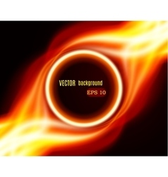 Abstract burning fire circle vector image