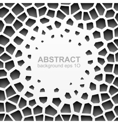 Abstract grayscale geometric pattern vector image vector image