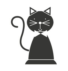 Baby toy cat isolated icon design vector