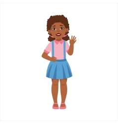 Black teenage girl waving part of growing stages vector