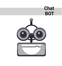 Cartoon robot face smiling cute emotion open mouth vector