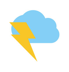cloud with lightning ray icon image vector image