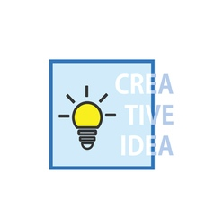 Creative idea with lightbulb icon vector