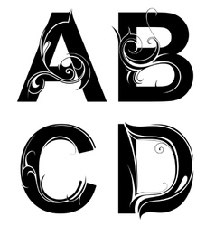 Decorative letter shapes vector