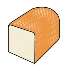 Delicious slice bread isolated icon vector