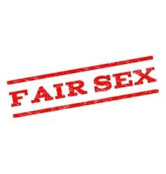 Fair Sex Watermark Stamp vector image vector image