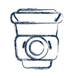 Figure delicious coffee inside plastic cup vector