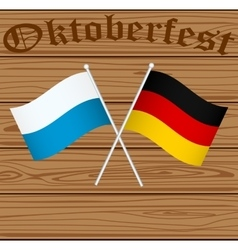 Flags of Germany and Bayern Munich vector image vector image