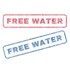 free water textile stamps vector image vector image