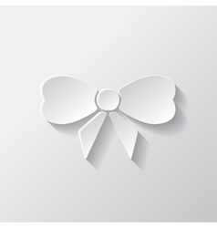 Gift Christmas bow web icon vector image
