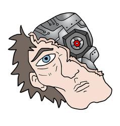 human robot face vector image